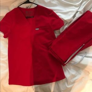 Red figs XS scrubs